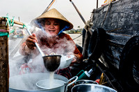 Noodle Lady - Floating Village - Mekong