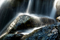 Water Cascading on Rock