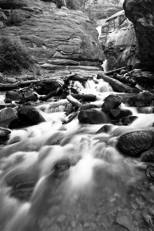 Waterfall (Black and White)